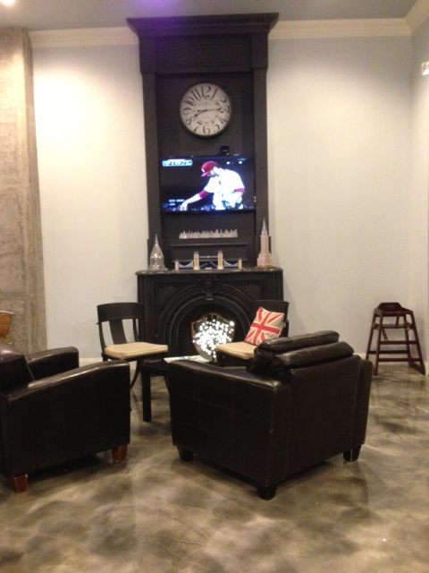Bond Coffee Co Fireplace