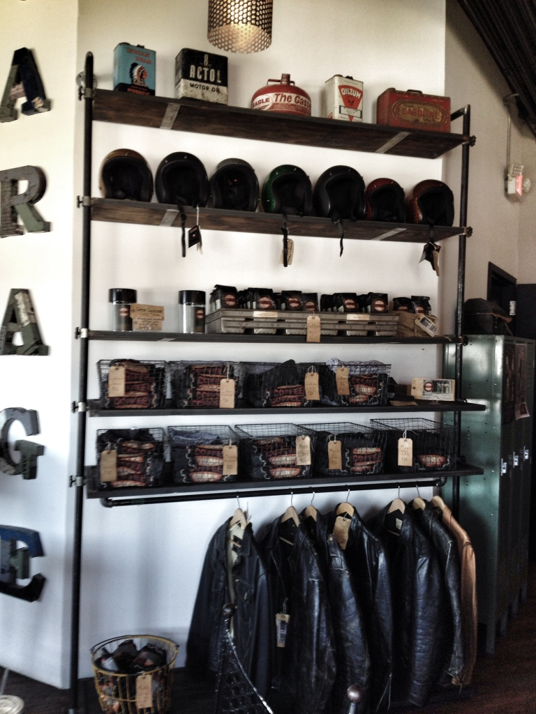 garage coffee helmet wall